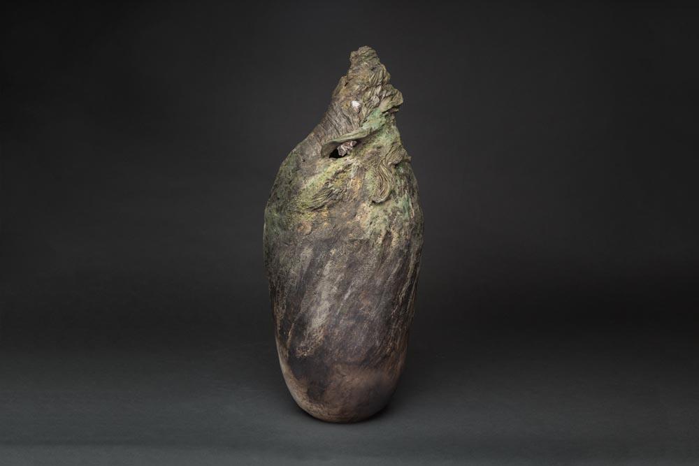 Sculpture céramique texture coquillage
