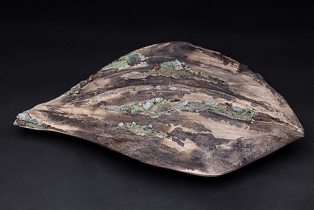 Bas relief en forme de feuille - Rêverie Minérale 2 Fréchet